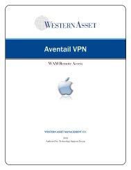 Aventail VPN - Western Asset
