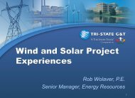Tri-State Wind and Solar Project Experiences - Utility Variable ...