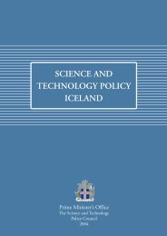 SCIENCE AND TECHNOLOGY POLICY ICELAND