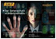 Der Datenschutz im Arbeitsverhältnis - Sunderdiek, Werth und ...