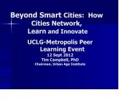 Search > Beyond Smart Cities - UCLG