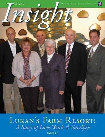 Lukan's Farm Resort: - Wayne Memorial Health System