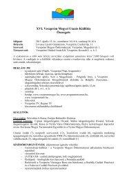 Vásári összefoglaló - Veszprém megye honlapja
