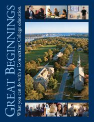 Great Beginnings: What you can do with a Connecticut College ...