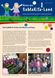 Kindergartenzeitung Juli 2012 - Neues aus Samakita-Land
