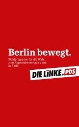 Wahlprogramm - Die Linke. -Fraktion Berlin