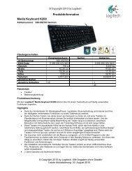 Produktinformation Media Keyboard K200