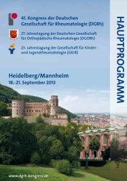 Hauptprogramm 2013 - DGRH-Kongress
