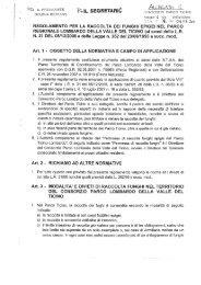 Regolamento per la raccolta dei funghi epigei nel Parco Ticino