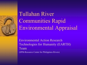 Tullahan River Communities Rapid Environmental Appraisal