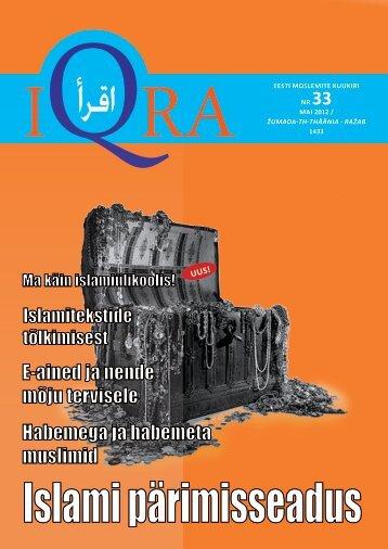 iqra EESTI MOSLEMITE KUUKIRI NR 33 MaI 2012 ... - Islam