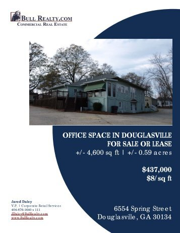 OFFICE SPACE IN DOUGLASVILLE FOR SALE OR ... - Bull Realty