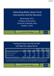 Debunking Myths about Fiscal Intervention and the Recovery
