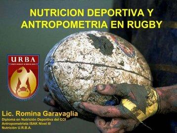 NUTRICIÓN DEPORTIVA APLICADA AL RUGBY - URBA
