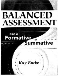 Balanced Assessment from Formative to Summative Assessment