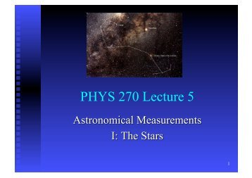 PHYS 270 Lecture 5