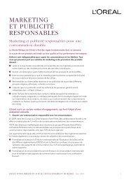 marketing et publicité responsables - Rapport de Développement ...