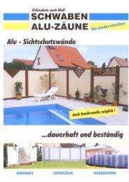 Produkt / Alu-Sichtschutz, Alu-Balkone, Alu-Zäune - Regioseiten