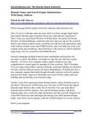 DomainSherpa.com: The Domain Name Authority Domain Names ...