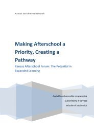Making Afterschool a Priority, Creating a Pathway - Expanded ...