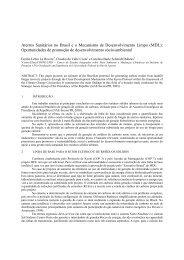 Aterros Sanitários no Brasil e o Mecanismo de Desenvolvimento ...