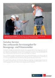 Umfassendes Serviceangebot - Swisslux AG
