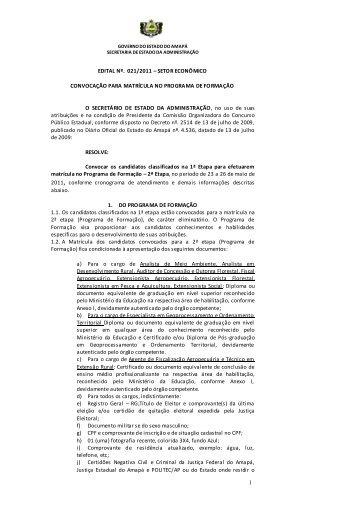 GOVERNO DO ESTADO DO AMAPÁ - SEAD - Governo do Estado ...