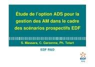 Etude réalisée à EDF sur les scénarios avec ADS - gedepeon