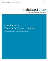 Automation – Time to find your true north - Roland Berger Strategy ...