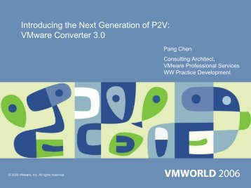 Introducing the Next Generation of P2V: VMware Converter 3.0