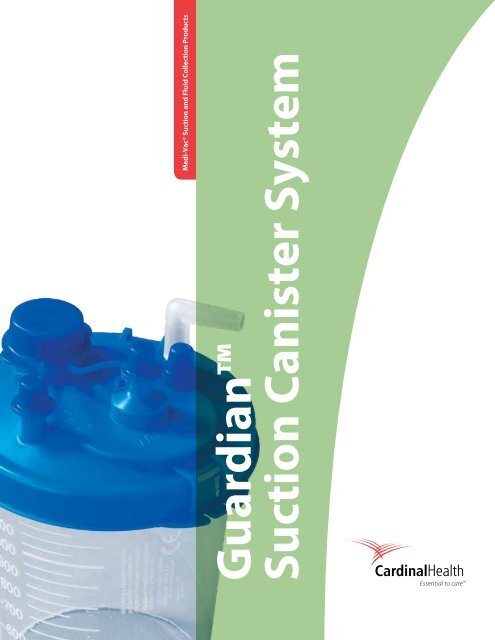 """7dff7c85ff9d Guardianâ""""¢ Suction Canister System - Cardinal Health"""