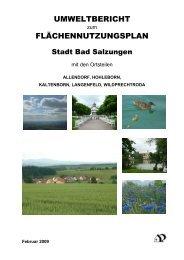 umweltbericht flächennutzungsplan - und Kreisstadt Bad Salzungen