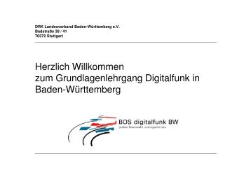 Warum Digitalfunk - BOS Sprechfunk-Ausbildung