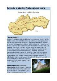 4.Hrady a zámky Prešovského kraja