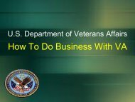 U.S. Department of Veterans Affairs How To Do ... - SAME NYC Post