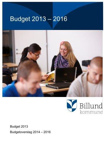 Budget 2013 – 2016 - Billund Kommune