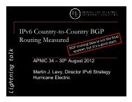 IPv6 Country-to-Country BGP Routing Measured