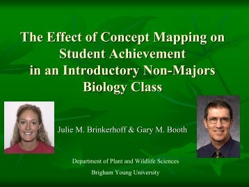 The Effect of Concept Mapping on Student Achievement ... - SENCER