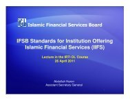 IFSB Standards for Institution Offering Islamic Financial Services (IIFS)