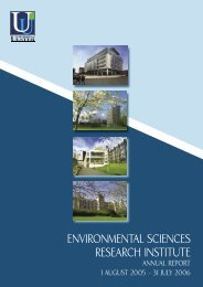 environmental sciences research institute - Research - University of ...