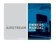 AIRSTREAM OWNERS MANUAL