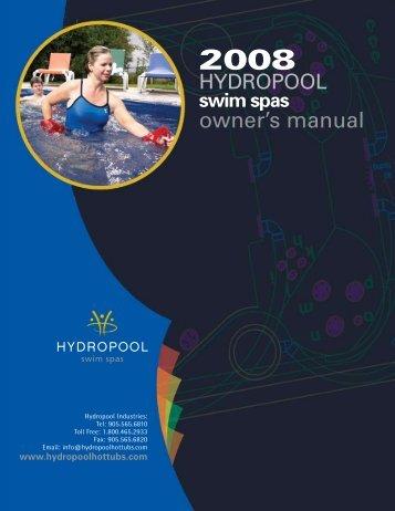 owner's manual - Hydropool
