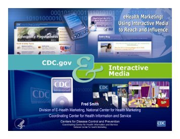 eHealth Marketing: Using Interactive Media to Reach and ... - sophe