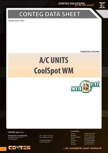 A/C UNITS CoolSpot WM - Conteg