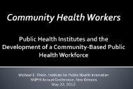 IPHi Presentation - National Network of Public Health Institutes ...
