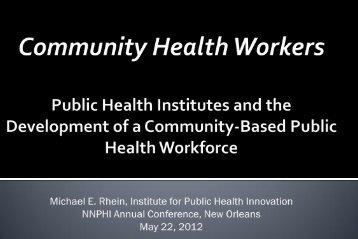 IPHi Presentation - National Network of Public Health Institutes ...