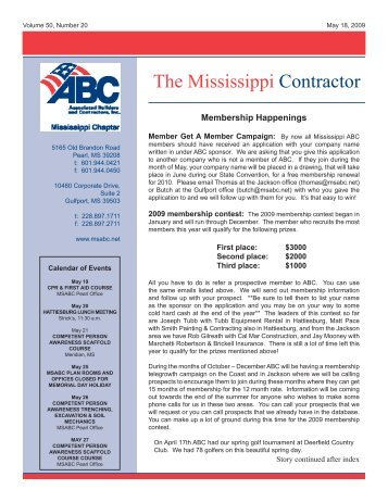 05-18-2009 The Mississippi Contractor.pdf - Msabc.net