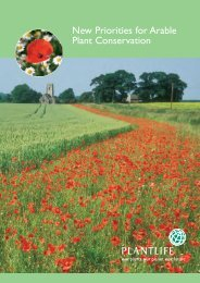 New Priorities for Arable Plant Conservation - Plantlife