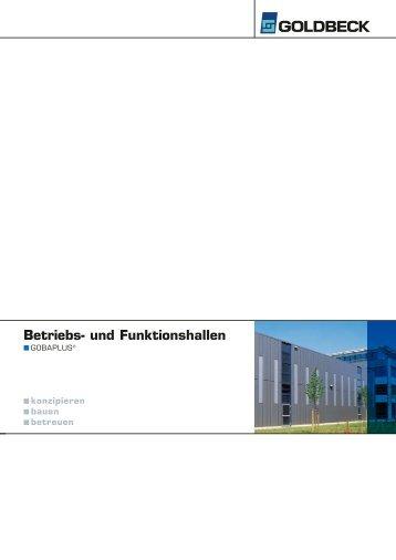 Betriebs- und Funktionshallen