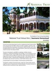 National Trust Venue Hire   Saumarez Homestead - NSW